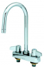 Equip by T&S Brass<BR>4&#34; Centers Workboard Faucets W/ Lever Handles