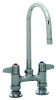 Equip by T&S Brass<BR>4&#34; Deck Mount Faucets with Lever Handles