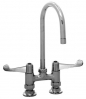 Equip by T&S Brass<BR>4&#34; Deck Mount Faucets with Wrist Blade Handles