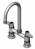 Equip by T&S Brass<BR>6&#34; Deck Mount Faucets with Lever Handles