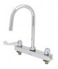 Equip by T&S Brass<BR>8&#34; Centers Workboard Faucets W/ Wrist Blade Handles