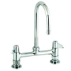 Equip by T&S Brass<BR>8&#34; Deck Mount Faucets with Lever Handles