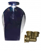 Leonard D-1-BR Brass Diverter Spout with Twin Elbow