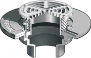MIFAB Series F1000 FLOOR DRAIN HEAVY DUTY STAINLESS STRAINER