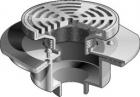 "Mifab Series F1330C Floor Drain With 9"" Round Tractor Grate And Deep Sump"