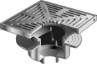 "Mifab Series F1440 Floor Drain With 12"" Square Adjustable Tractor Grate"