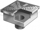 "Mifab F1480 Floor Drain w/ 12"" Square Heavy Duty Tractor Grate & Deep Sump"