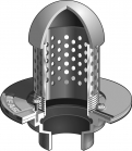 "Mifab F1830-P Planting Area Drain w/ 8"" High Perforated Standpipe & Dome"