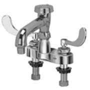 Zurn Z812Q4 Centerset  6in Vacuum Breaker Spout, An Aerated Outlet  4in Wrist Blade Hles.
