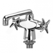 Zurn Z826F2-XL Double Lab Faucet  6in Cast Iron Spout  Four Arm Hles Lead-free