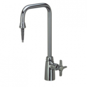 Zurn Z82800 Deionized Single Lab Faucet  6in Spout, Serrated Nozzle Outlet  Four Arm Hle.