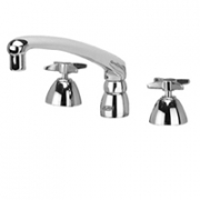 Zurn Z831G2-XL Widespread  8in Cast Spout  Four-Arm Hles Lead-free