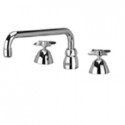 Zurn Z831H2-XL Widespread  12in Tubular Spout  Four-Arm Hles Lead-free