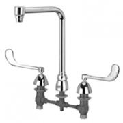 Zurn Z831S6 Widespread  8in Bent Riser Spout  6in Wrist Blade Hles.
