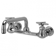 Zurn Z842H2-XL Sink Faucet  12in Tubular Spout  Four-Arm Hles. Lead-free