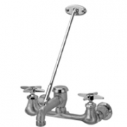 Zurn Z842M2-RC Sink Faucet  6in Vacuum Breaker Spout, Four-Arm Hles, Pail Hook, 3/4in Hose End  Brac