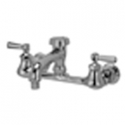 Zurn Z842Q1 Sink Faucet  6in Vacuum Breaker Spout, Lever Hles  Aerated Outlet.
