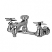 Zurn Z842Q2 Sink Faucet  6in Vacuum Breaker Spout, Four-Arm Hles  Aerated Outlet.