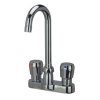 Zurn Z866A0-XL-P 4in Centerset Metering Faucet  3-1/2in Gooseneck  Pop-Up Drain Low-lead compliant