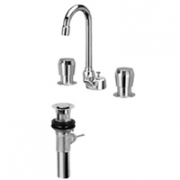 Zurn Z867A0-XL-P Widespread Metering Faucet  3-1/2in Gooseneck  Pop-Up Drain. Low-lead compliant