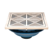 Zurn Z150-DT 14in Square Top Prom-Deck Drain w Decorative Grate and Rotatable Frame