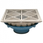 Zurn Z154-DT 12in Square Top Prom-Deck Drain w Decorative Grate and Rotatable Frame