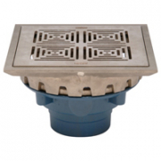 Zurn Z158-DT 10in Square Top Prom-Deck Drain w Decorative Grate and Rotatable Frame