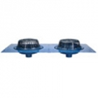 "Zurn Z163 15"" Diameter Combination Main Roof and Overflow Drain with Low Silhouette Domes and Double"