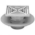 "Zurn Z1727 5"" 6"" or 8 in Square Top Adj Med-Duty Floor Drain"