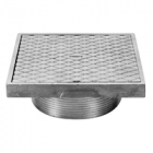 Zurn Z400SC Type SC Square Strainer w Solid Hinged Cover