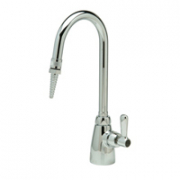 Zurn Z825B1-6F Single Lab Faucet  5 3/8in Gooseneck, Serrated Nozzle Outlet  Lever Hle