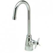 Zurn Z825B2-XL Single Lab Faucet  5-3/8in Gooseneck  Four Arm Hle Lead-free