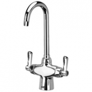 Zurn Z826A1-XL Double Lab Faucet  3-1/2in Gooseneck  Lever Hles Lead-free