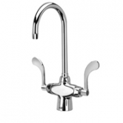 Zurn Z826B4-XL Double Lab Faucet  5-3/8in Gooseneck  4in Wrist Blade Hles Lead-free