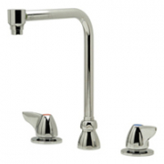 Zurn Z831S3-ICT Widespread  8in Bent Riser Spout  Interconnecting Tubes  Dome Lever Hles