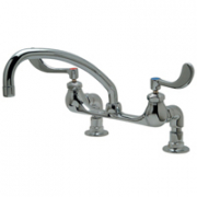 Zurn Z842J4-DM-15F Deck-Mounted Faucet  9-1/2in Tubular Spout  Wrist Blade Lever Hles.