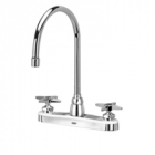 Zurn Z871C2-XL Kitchen Sink Faucet  8in Gooseneck  Four-Arm Hles. Lead-free
