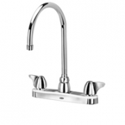 Zurn Z871C3-XL Kitchen Sink Faucet  8in Gooseneck  Dome Lever Hles. Lead-free