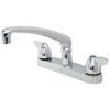 Zurn Z871G3-XL Widespread  8in Cast Spout  Dome Lever Hles.Lead-free