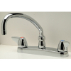 Zurn Z871J3-XL Kitchen Sink Faucet  9-1/2in Tubular Spout  Dome Lever Hles. Lead-free