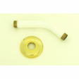"090NWG, Jewel Series, 6"" Shr Arm & Flange, White/Gold Finish"