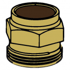 WOODFORD 30107 MODEL 24 BRASS PACKING NUT