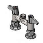 T&S Brass 5F-4DLX00 Equip 4IN CtrsDeck Mount Swivel Base Faucet
