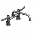 T&S Brass 5F-6DWX10 Equip 6IN Deck Mount Faucet
