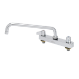 T&S Brass 5F-8CLX06 Equip 8IN CtrsDeck Mount Workboard Faucet