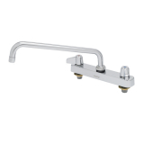 T&S Brass 5F-8CLX12 Equip 8IN CtrsDeck Mount Workboard Faucet