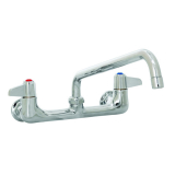 T&S Brass 5F-8WLX08 Equip Faucet Wall Mount 8IN Ctrs