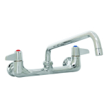 T&S Brass 5F-8WLX10 Equip Faucet Wall Mount 8IN Ctrs