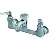 T&S Brass B-0674-RGH Service Sink Faucet Wall Mount 8'' Centers