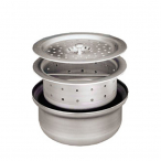 CHG D34-X015 Bowl, Stainless Steel, Box Pattern Basket Drain